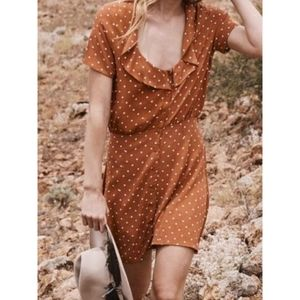 Auguste The Label Lilly Day Dress Rust Polka-Dot 6